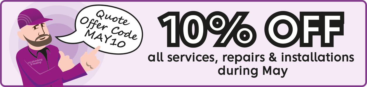 10% off all services, repairs and installations during May 2021. Quote MAY 10